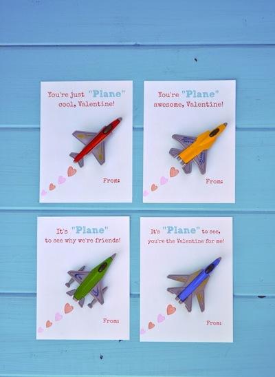 Free Printable Toy Plane Valentines