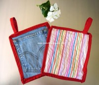 Jean Pocket Pot Holder | AllFreeSewing.com