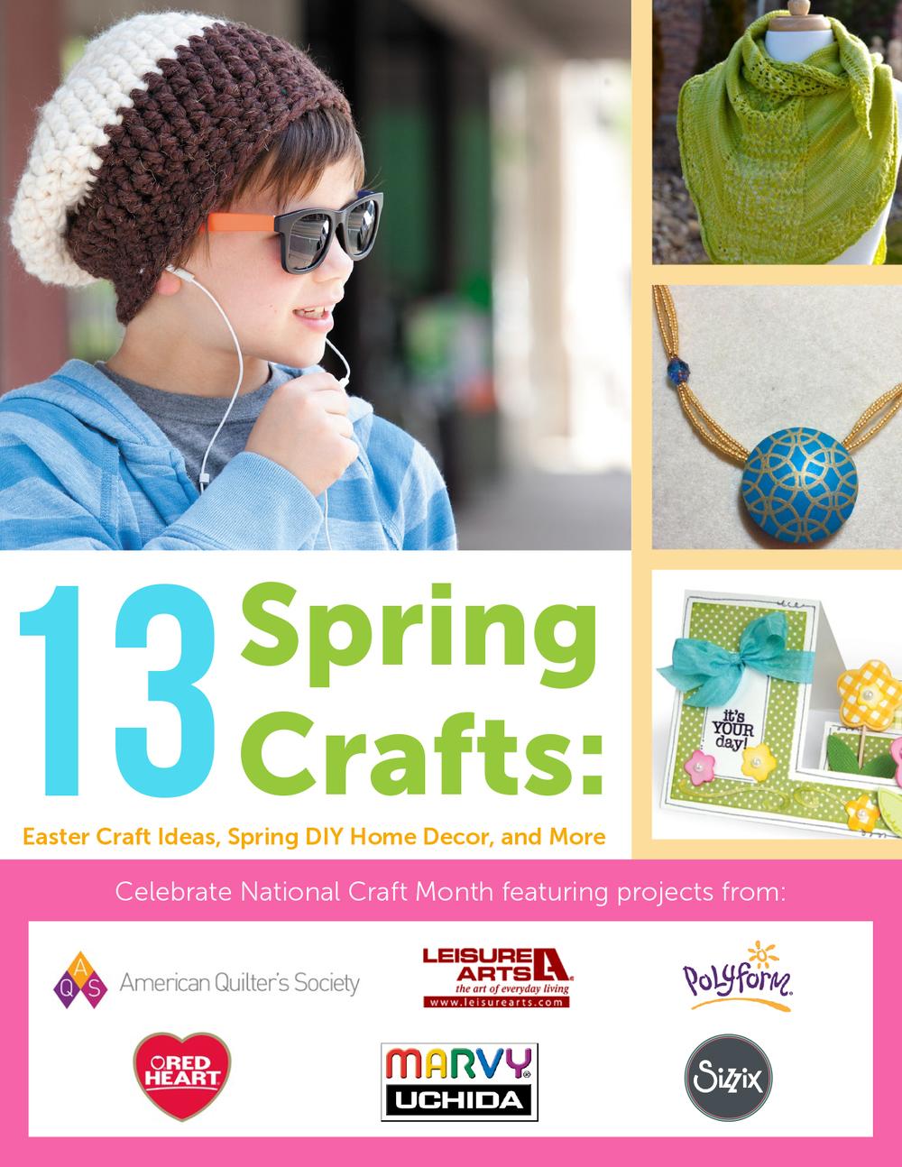 13 Spring Crafts Easter Craft Ideas Spring Diy Home Decor And More Free Ebook Favecrafts Com