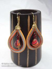 Fiesta Sunset Earrings   AllFreeJewelryMaking.com