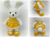 Cheerful Spring Easter Bunny | AllFreeCrochet.com