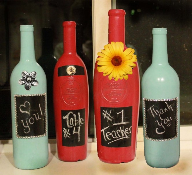 Primitive Hand Painted Snowman Wine Bottle 16 Pretty Handmade Christmas Decoration Ideas