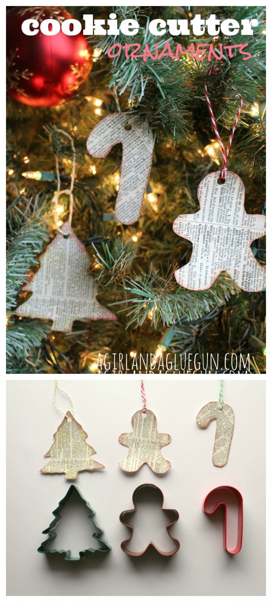 Literary Cookie Cutter Ornaments