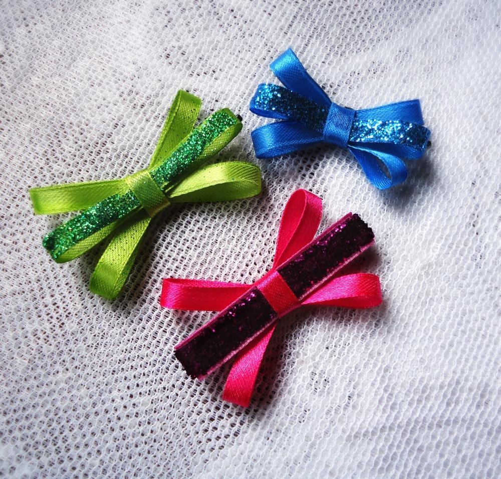 easy diy ribbon hair clips