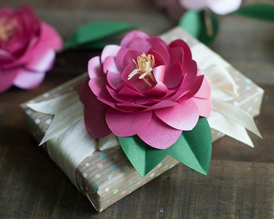 Camellia DIY Paper Flowers AllFreePaperCrafts Com