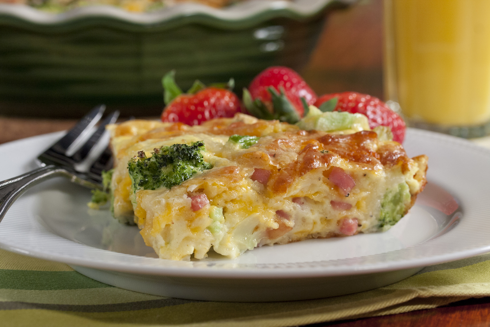 Broccoli and Ham Quiche MrFoodcom