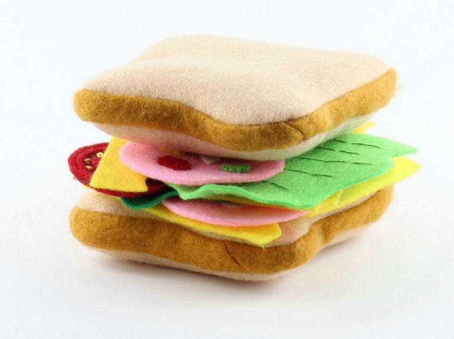 Felt Toy Sandwich  AllFreeSewingcom