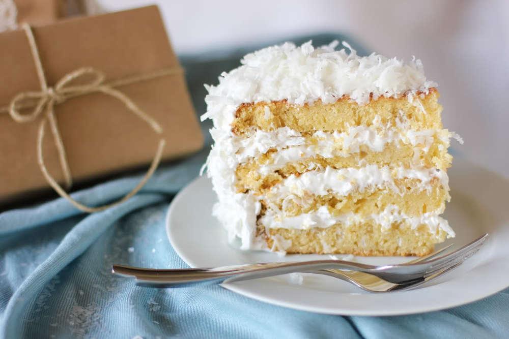Moist and Fluffy Coconut Cake  TheBestDessertRecipescom