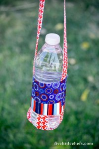 Easy Duct Tape Water Bottle Holder | AllFreeHolidayCrafts.com