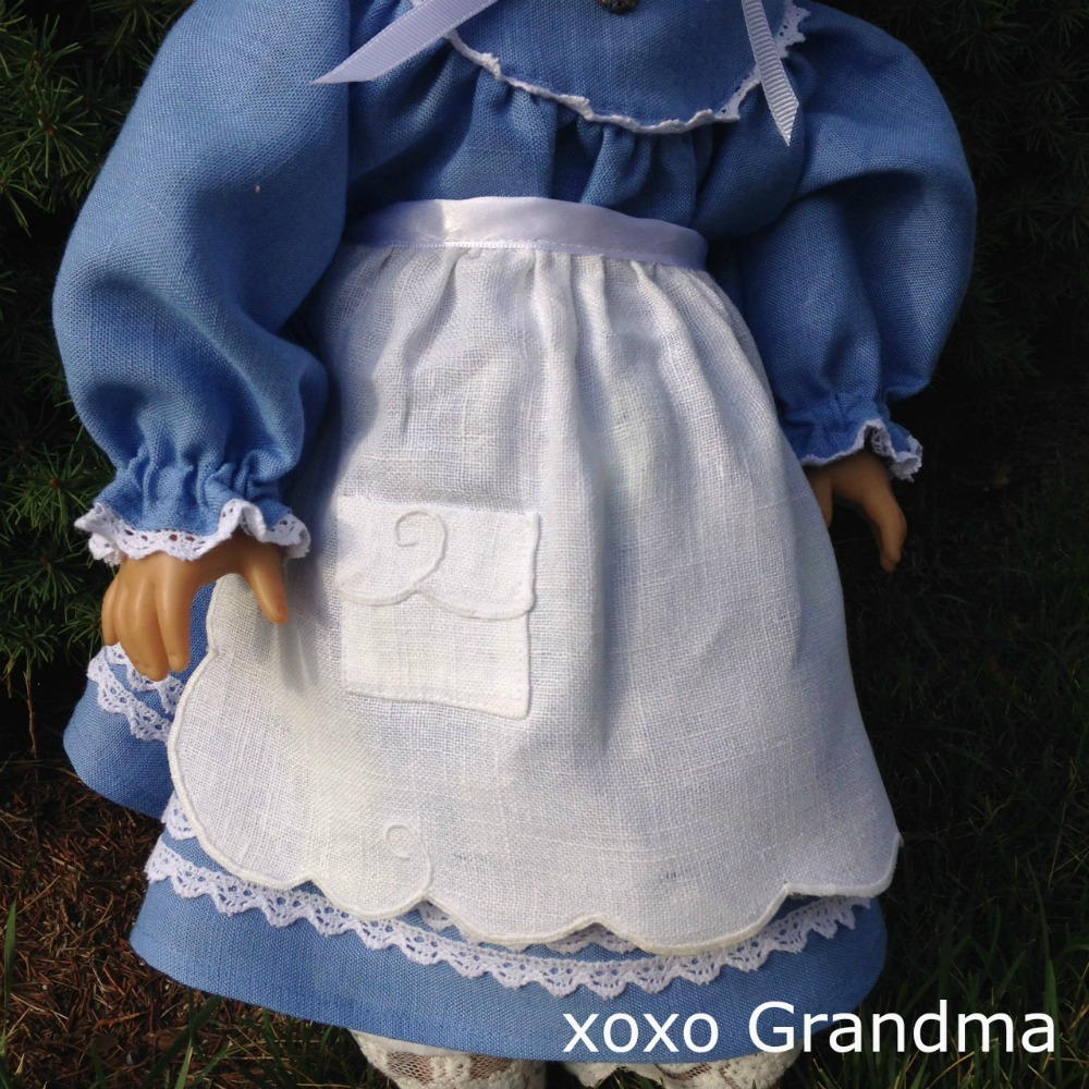 Free Apron Pattern for a Doll  AllFreeSewingcom