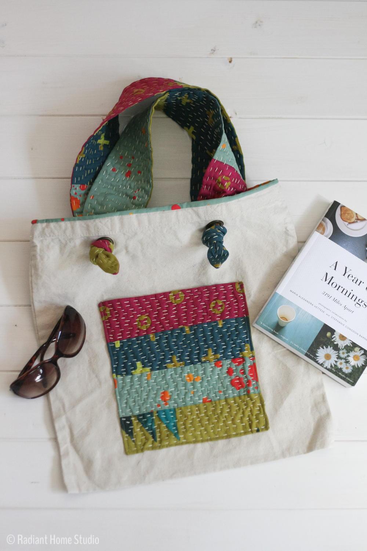 Kantha Inspired Tote Bag Tutorial  AllFreeSewingcom