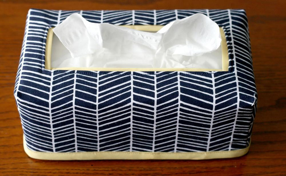 Fabric Tissue Box Cover  AllFreeSewingcom