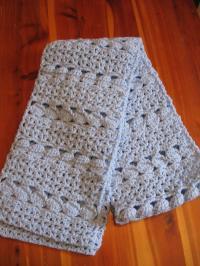 Cozy Blue Crochet Scarf | AllFreeCrochet.com