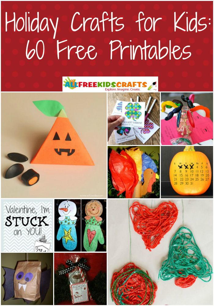 Holiday Crafts For Kids 60 Free Printables