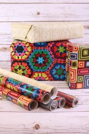 Lion Brand Artisan Gift Wrap Allfreeholidaycrafts