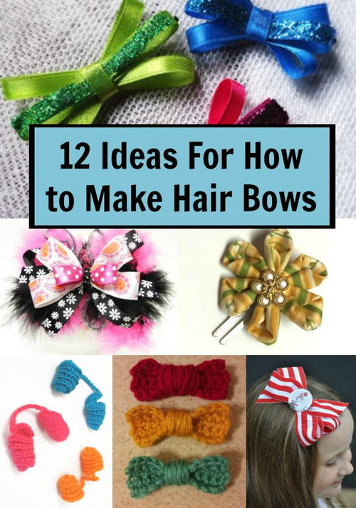 ideas make hair bows