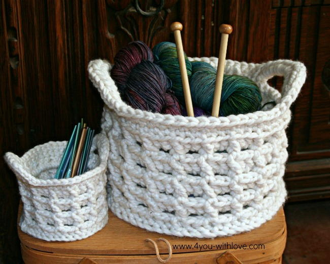 Box Stitch Crochet Basket  AllFreeCrochetcom