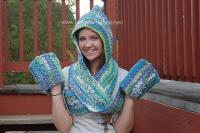 Free Crochet Pattern Hooded Scarf With Pockets ~ Dancox for