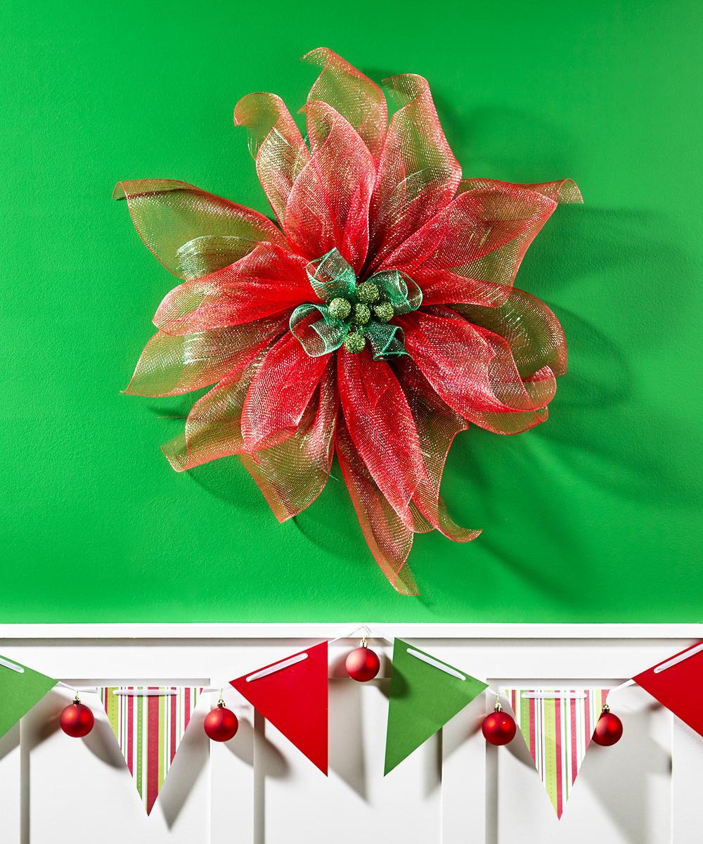 Decorative Mesh Poinsettia Flower  FaveCraftscom