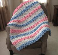 Crocodile Rock Crochet Baby Blanket