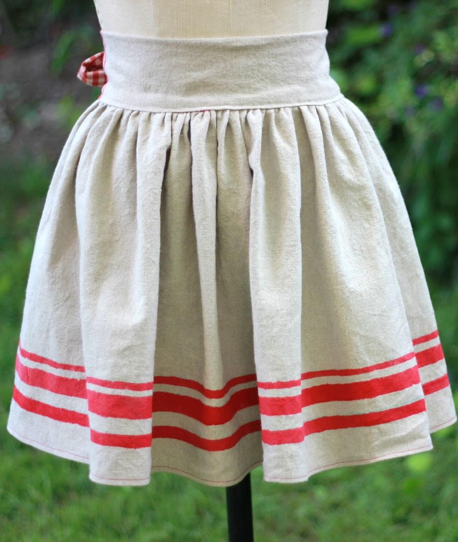 chair slip covers wrought iron patio chairs hand painted diy apron | allfreesewing.com