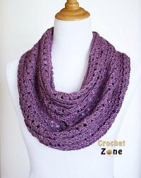Perfectly Purple Crochet Scarf | AllFreeCrochet.com