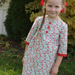 Chair And A Half Slipcovers Cushions Tie On Girls Fall Tunic Dress Pattern | Allfreesewing.com