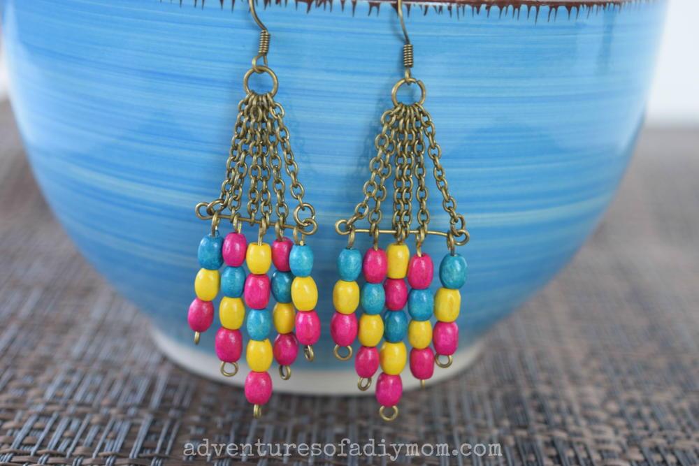 Wooden Bead Dangle DIY Earrings  AllFreeJewelryMakingcom