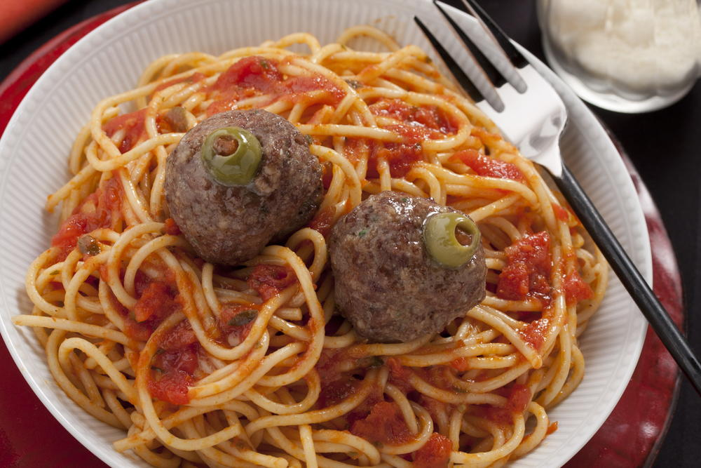 Spaghetti Brains with Eyeballs  MrFoodcom