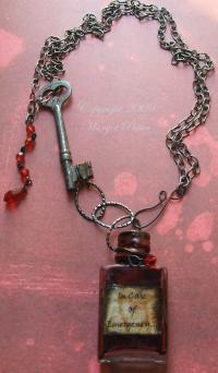 Vampire Vial Necklace | AllFreeJewelryMaking.com
