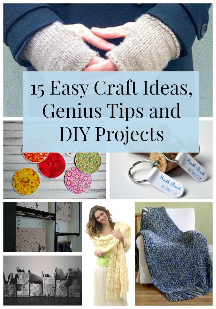 15 Easy Craft Ideas Genius Tips and DIY Projects  FaveCraftscom
