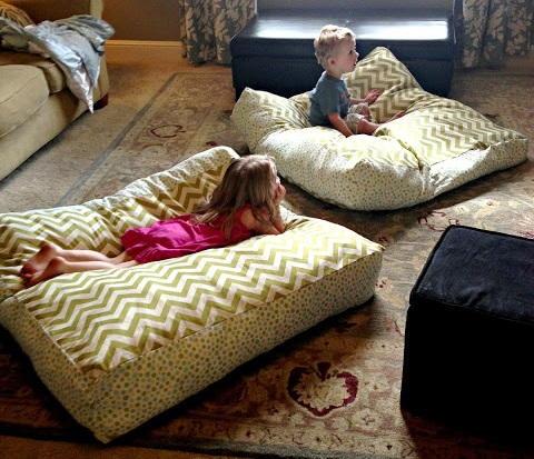 Giant DIY Floor Pillows  AllFreeSewingcom