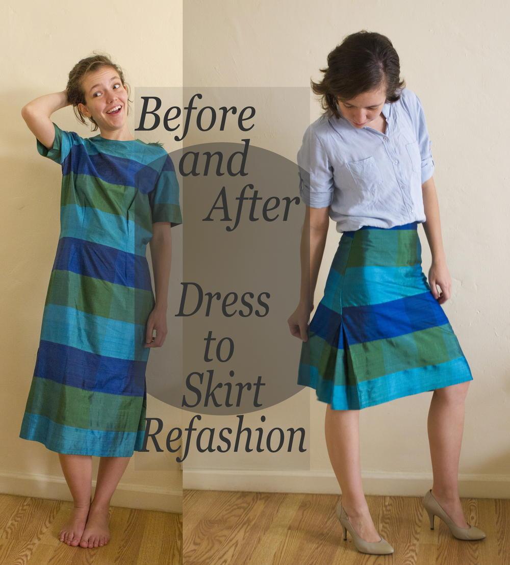 Dress to Skirt Refashion  AllFreeSewingcom