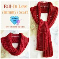 Fall-In Love Infinity Scarf | AllFreeCrochet.com