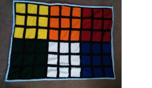 Rubiks Cube Throw  AllFreeCrochetcom