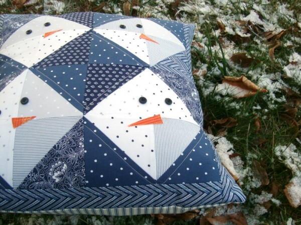 Snowman DIY Pillow Pattern  AllFreeSewingcom