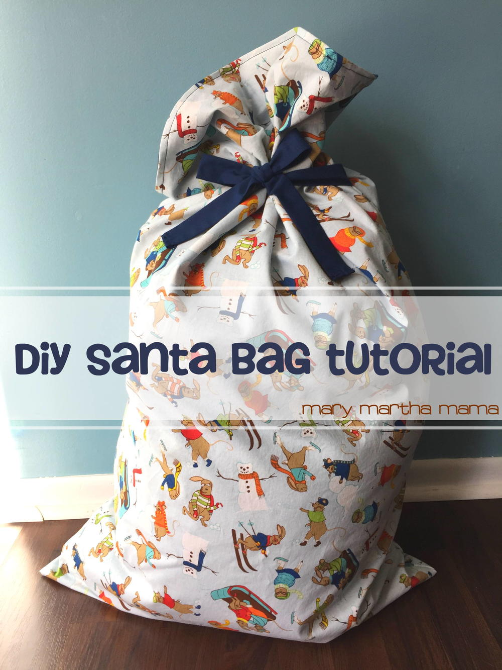 Easy DIY Santa Bag Tutorial  AllFreeSewingcom