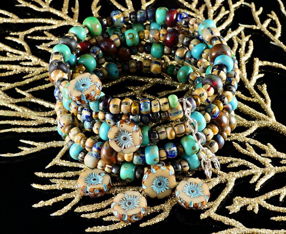 Beaded Tribal Boho Bracelet  AllFreeJewelryMakingcom