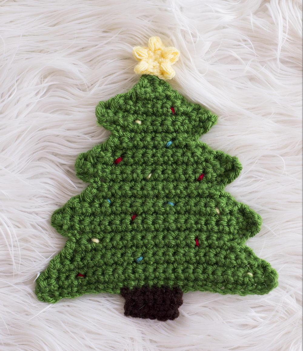 Christmas Tree Pot Holder Pattern  AllFreeCrochetcom
