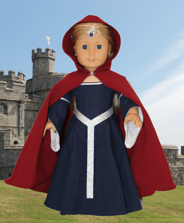 Medieval Doll Cape Sewing Pattern  AllFreeSewingcom
