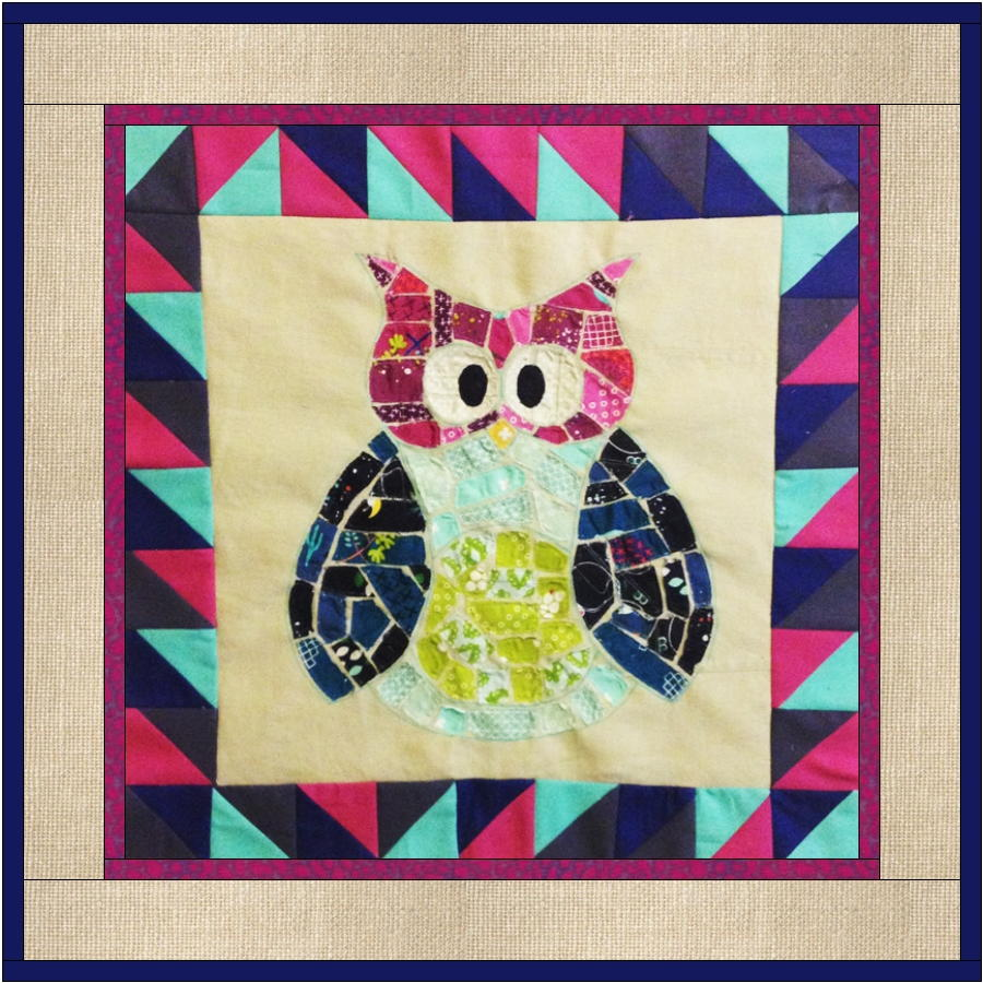 Ticker Tape Owl Quilt Block  FaveQuiltscom