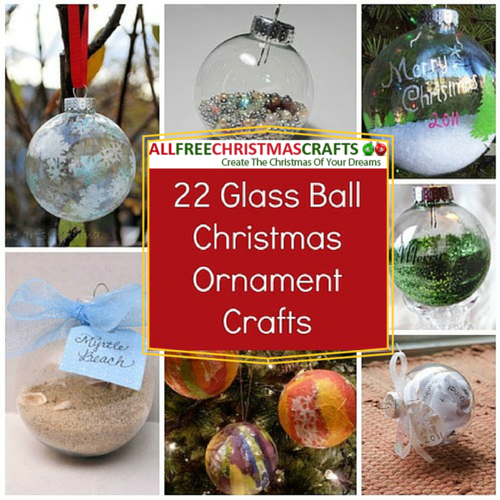 Christmas Ornament Crafts With Clear Balls