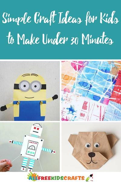 30 simple craft ideas
