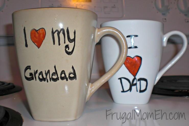 I Heart Dad Fathers Day Mug