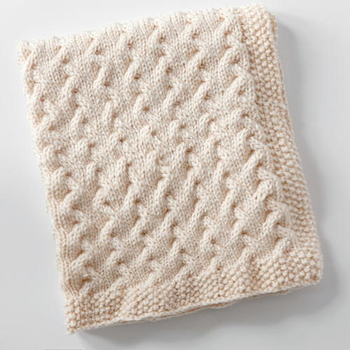 Snuggly Cables Baby Blanket  AllFreeKnittingcom