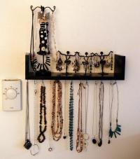 Wall-Mounted DIY Jewelry Shelf Organizer | DIYIdeaCenter.com