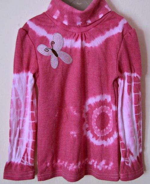 Pink Butterfly DIY Tie Dye Shirt