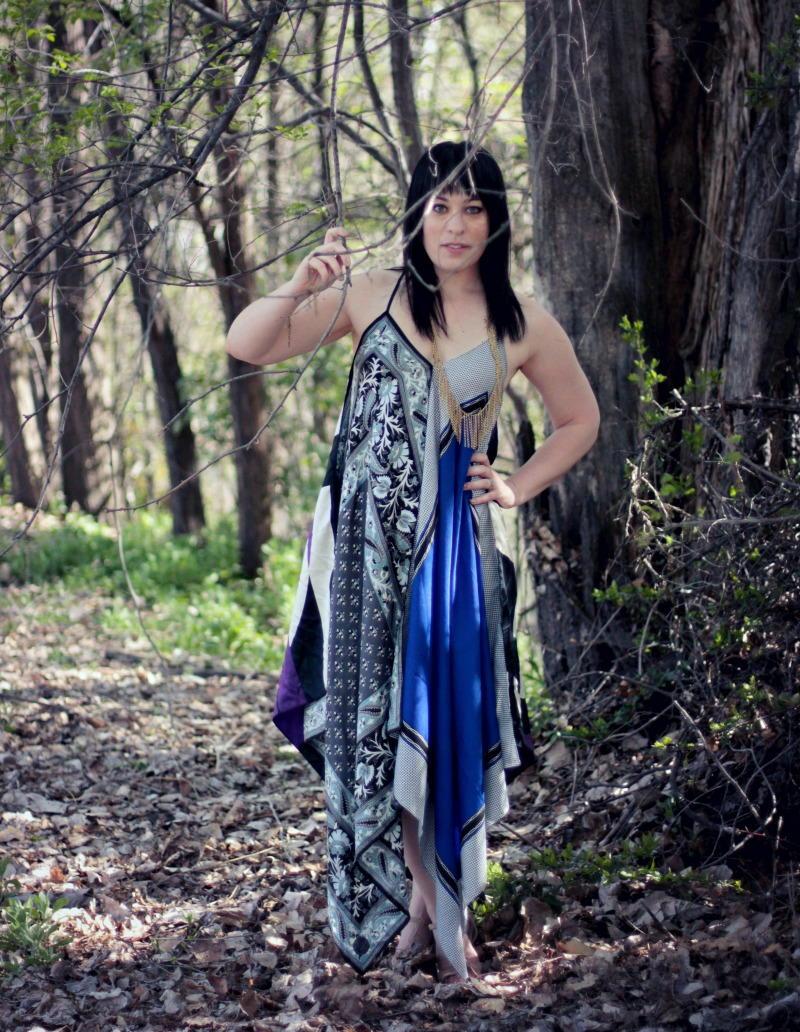 Boho Scarf Maxi Dress  AllFreeSewingcom
