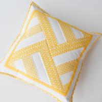 Geometric Throw Pillow with Lapped Zip Back | FaveQuilts.com
