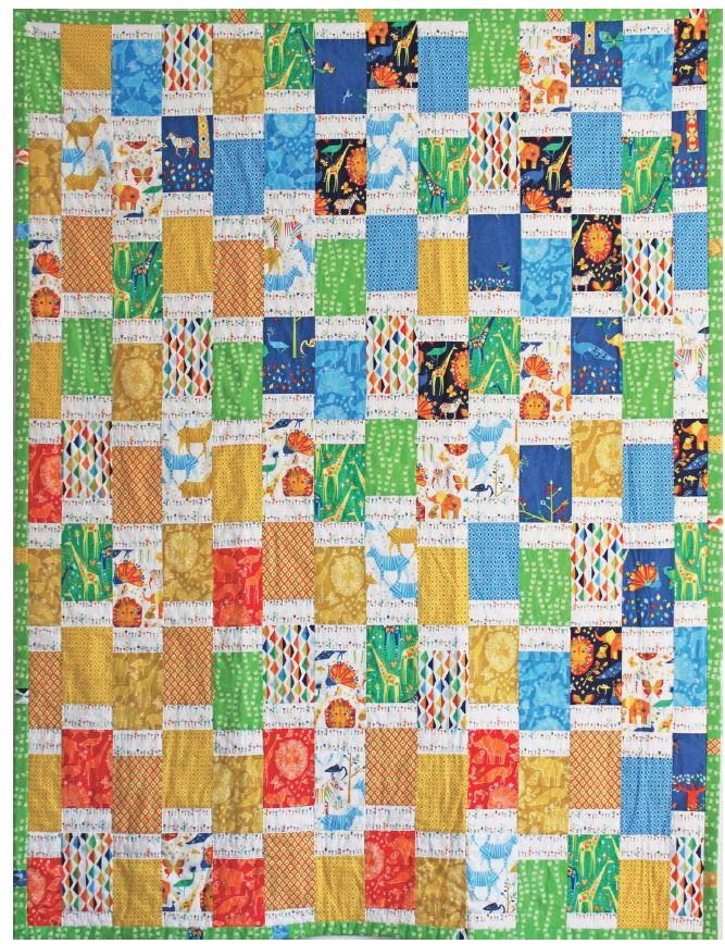 African Jungle Bargello Quilt Pattern  FaveQuiltscom